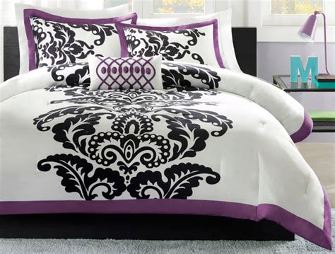 purple and white bedding total fab purple black and white bedding sets drama uplifted