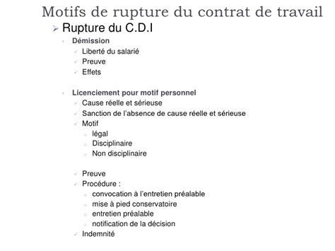 Modèles De Lettre De Rupture De Contrat De Travail Rupture Du Contrat De Travail