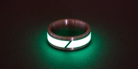 touch of modern touch of modern glowing titanium carbon fiber rings
