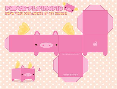 Papercraft Pig - paper flying pig by squidpig on deviantart