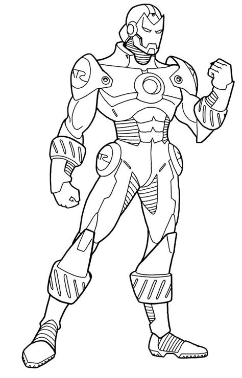 free coloring pages of iron man superman