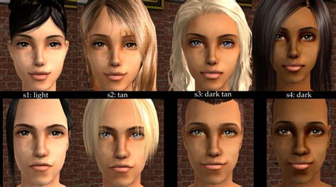 sims 3 default replacement skin mod the sims default replacements of oepu s maxis match