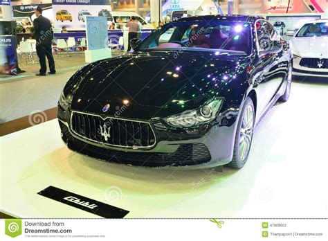 maserati thailand nonthaburi december 1 maserati ghibli car display at
