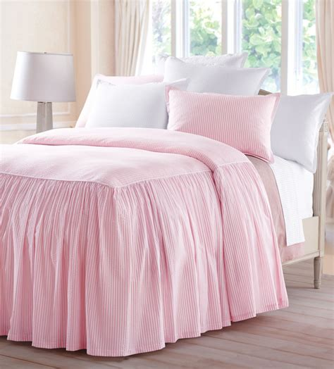 seersucker bedspreads seersucker gathered bedspread bedding portland maine by cuddledown