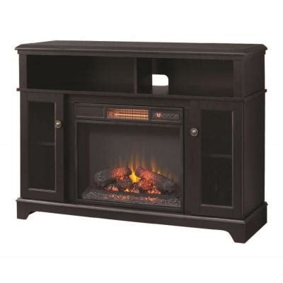 electric fireplace heater home depot home decorators collection ravensdale 48 in media console
