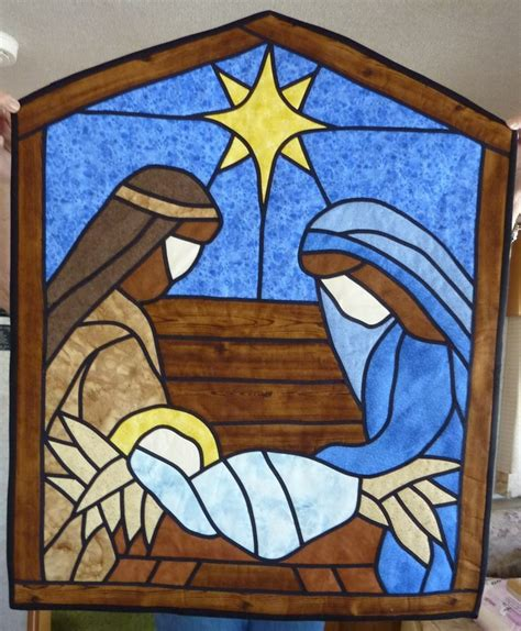 quilt pattern nativity scene a stained glass nativity on pinterest nativity stained
