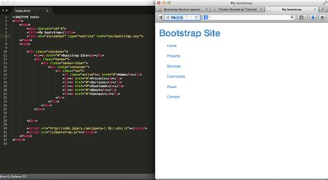 bootstrap tutorial sitepoint bootstrap navbar appears as vertical list html