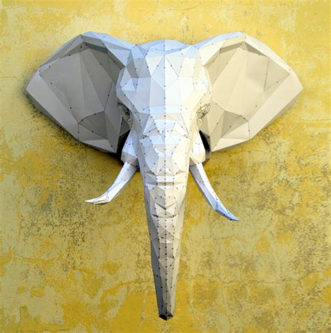 Elephant Papercraft - make your own elephant sculpture papercraft elephant