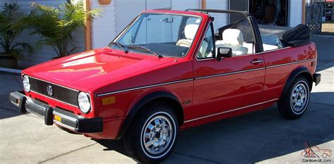 volkswagen rabbit convertible vw rabbit convertible fully restored red with black top