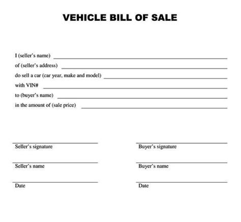 voetstoots sale agreement template vehicle bill of sale form templatezet