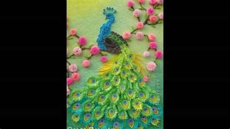 How To Make A 3d Peacock Out Of Paper - paper quilling 3d peacock paper