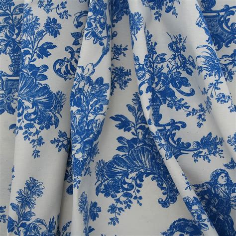 toile print curtains toile de jouy french scene print cotton satin muslin
