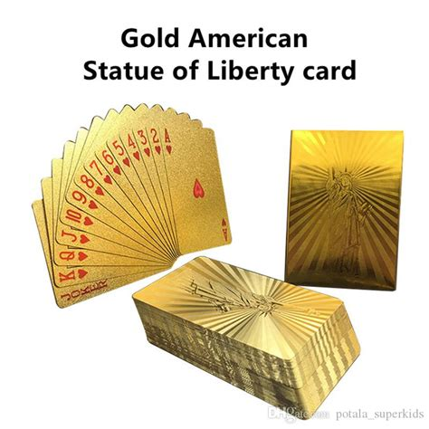 donald trump plastic playing cards  president trump gold
