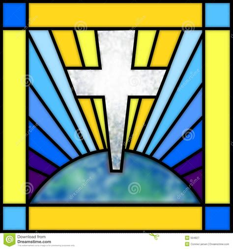 stained glass cross l stained glass cross royalty free stock photography image
