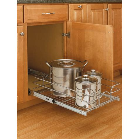 lower kitchen cabinet organizers chrome rev a shelf cabinet organizer from lowes storing