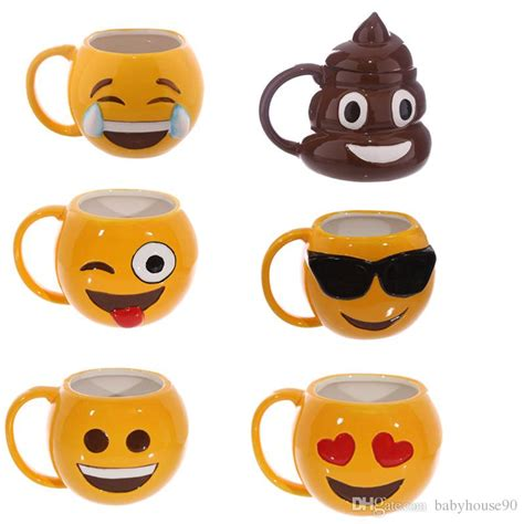 Mugs Spoof Funny Poo Shaped Cups With Lid Emoji Mug Ceramics Lovers Tumbler Kawaii Zakka Style