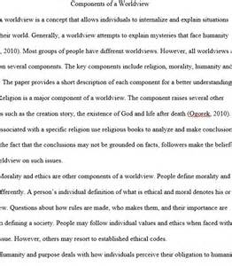 Personal Worldview Essay by Foundation Of Spirituality In Health Care Regent Essays