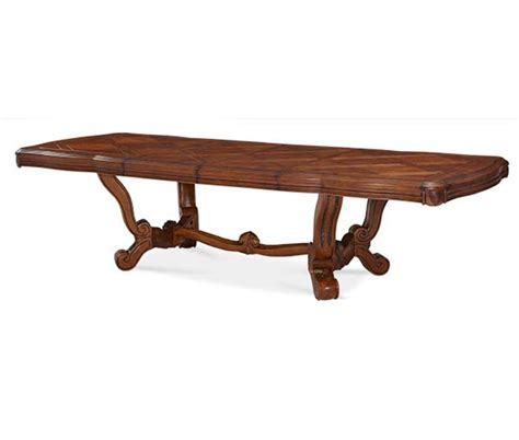 Michael Amini Tuscano Traditional Rectangular Trestle Aico Dining Table
