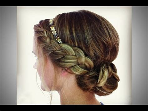 hair and makeup by steph youtube braided headband updo youtube