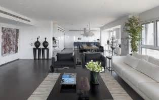 Grey Interior Design by Modern White And Gray Apartment Interior Design By