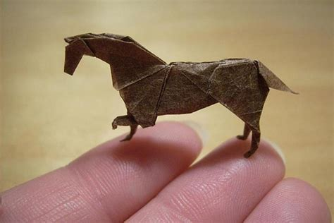 Origami Figures - artist anja markiewicz folds amazingly tiny origami out of