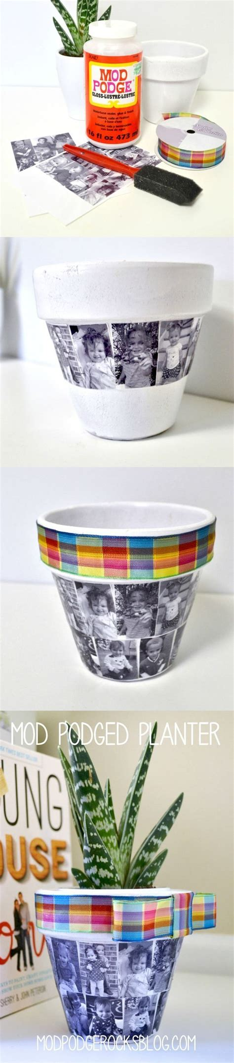 diy mod podge gifts diy flower pot for s day planters gifts for mothers day and flower