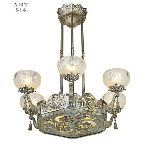 nouveau light fixtures nouveau or deco chandelier antique ceiling