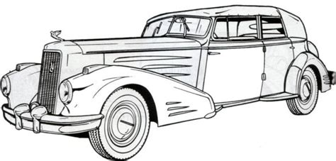 printable coloring pages of old cars 1936 cadillac classic old car coloring pages free online