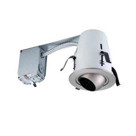 Commercial Electric Recessed Lighting by Commercial Electric 4 In Brushed Nickel Non Ic Remodel