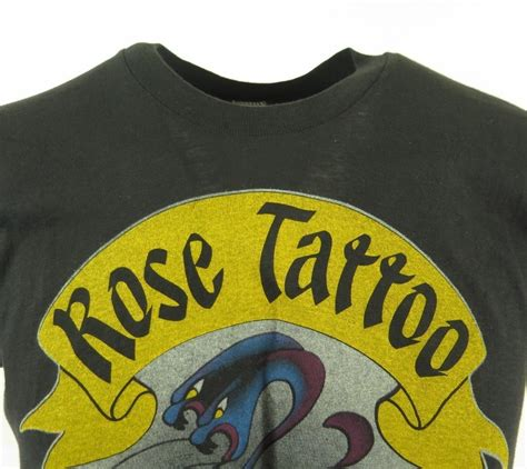 rose tattoo band shirt vintage 80s band t shirt mens l scarred for