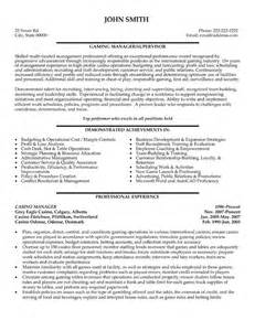 Casino Manager Sle Resume casino manager resume template premium resume sles exle