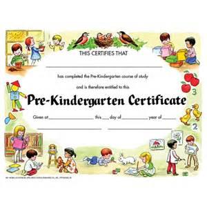 Kindergarten Certificate Templates by Pre Kindergarten Certificate Va199cl School