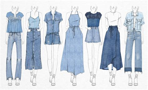 fashion illustration denim gap abbie de castro