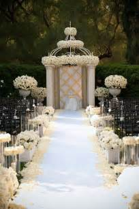 wedding decor ideas gorgeous wedding ceremony ideas the magazine