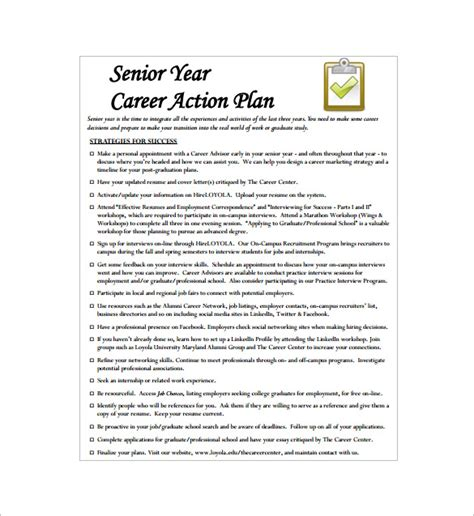 how to write a career plan template career plan template 14 free sle exle