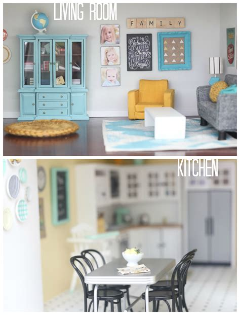 doll house room diy dollhouse living room and kitchen