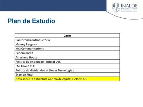 Mba Uvm Plan De Estudios by Estructura Optima De Capital