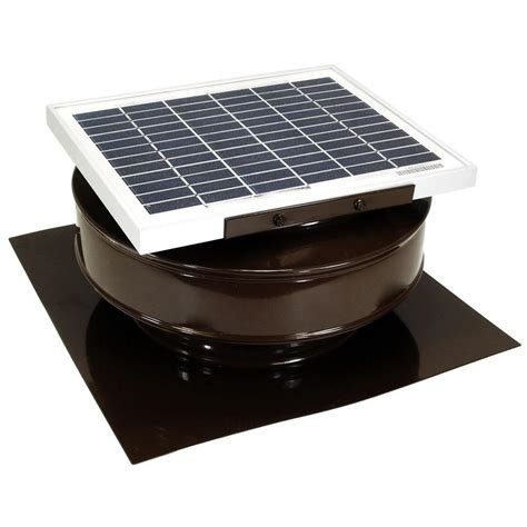 solar powered fans for home active ventilation 365 cfm brown powder coated 5 watt