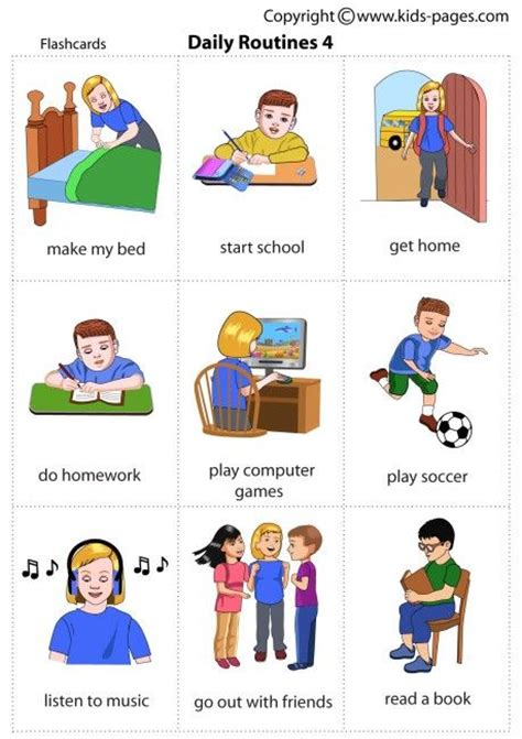 esl le vocabulary daily routines 4