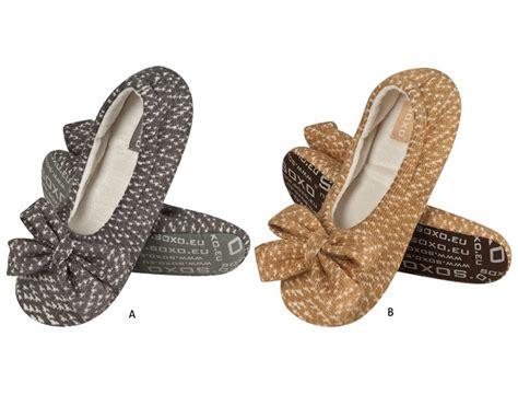 knitted ballerina slippers soxo knitted ballerina slippers with bow ballerinas