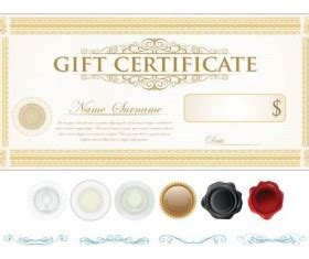 illustrator gift certificate template best certificate template design vector 01 vector cover