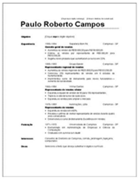 Modelo De Curriculum Vitae En Word Para Editar Modelo De Curriculo