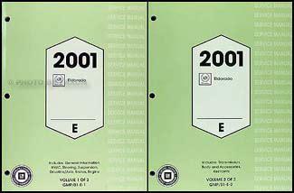 2001 cadillac eldorado repair shop manual original 2 volume set 2001 cadillac eldorado wiring diagram original