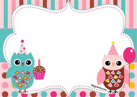 owl invitation template free printable owl birthday invitation bagvania free