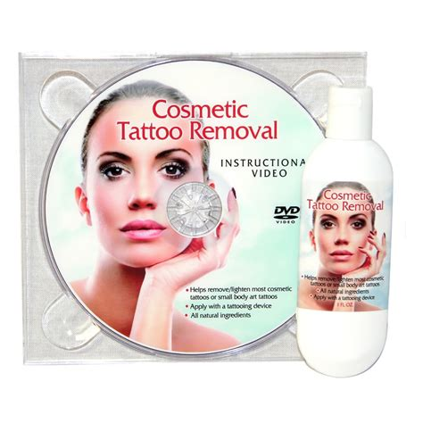 removal of permanent tattoo cosmetic removal and dvd