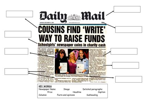 features of a newspaper by sherish teaching resources tes features of a newspaper by sherish teaching resources tes