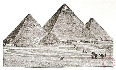 egypt pyramids  giza painting egypt pyramids