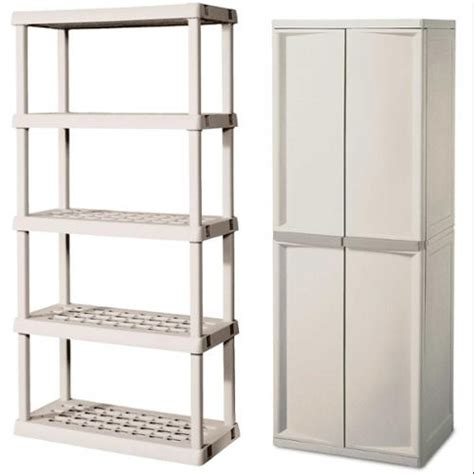 Sterilite 4 Shelf Storage Unit by Sterilite 0142 0155 Heavy Duty 4 Shelf Cabinet W Bonus 5
