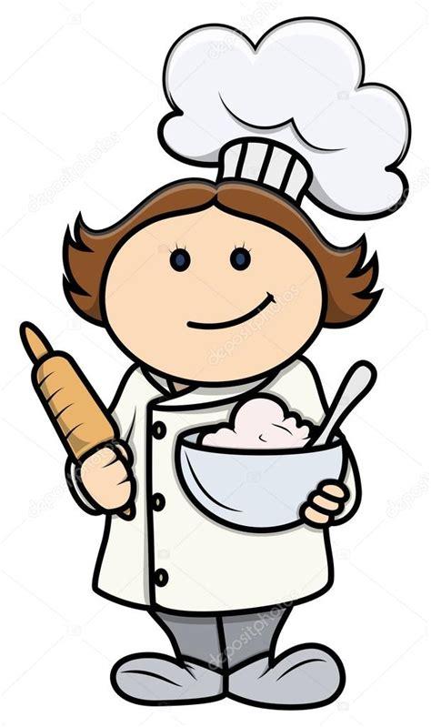 imagenes animadas jpg historieta linda chica en traje de chef ilustraci 243 n de