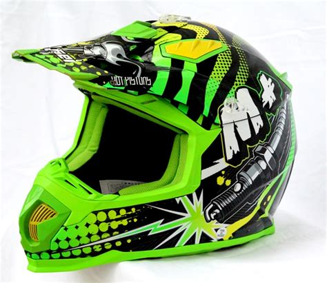 green motocross gear masei m motocross dirt bike motorcycle helmet green
